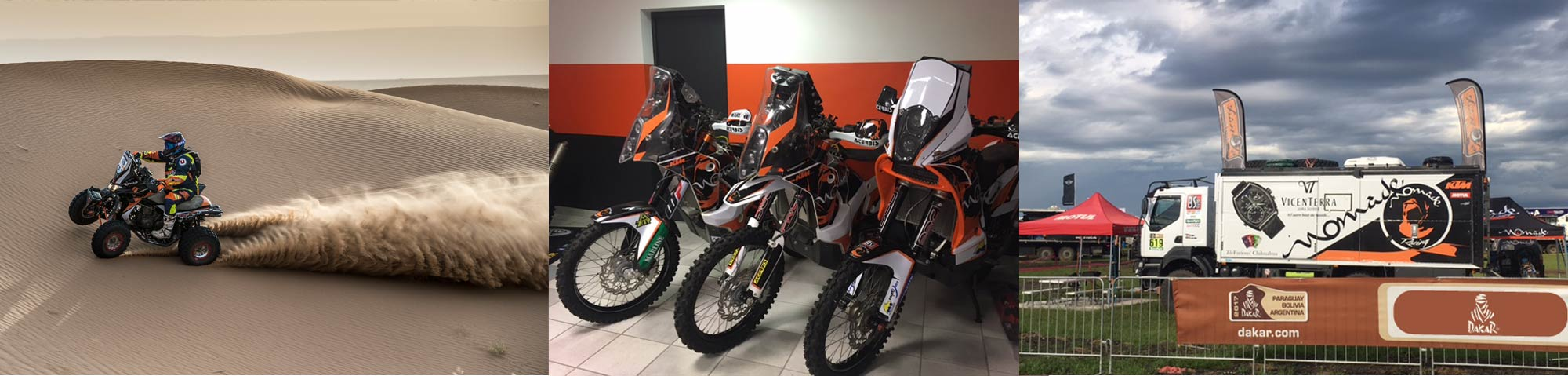Nomade Racing Shop Klim Kriega 6D Motul Parts Europe Préparateur Moto Quad Dakar 2018
